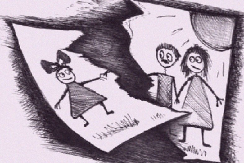 Карикатура на развод