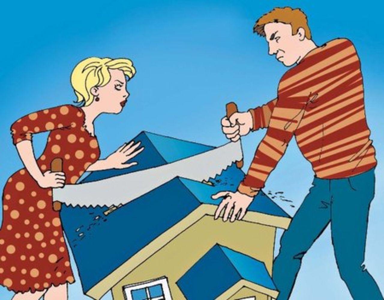 Супруги пилят дом